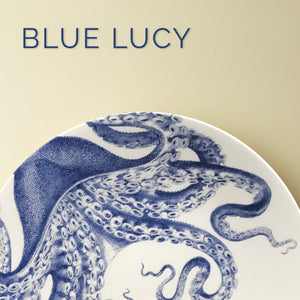 Blue Lucy (Octopus) Plates & Accessories