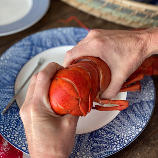 Lobster Eating Step 1 Separating the Tail