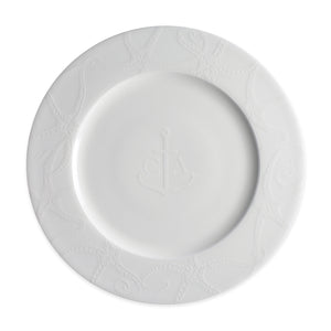 Starfish White Dinner Plate Monogrammed