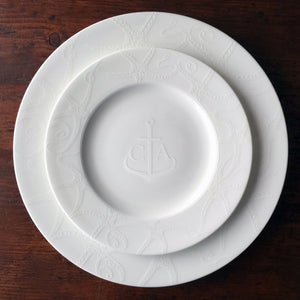 Starfish White Salad Plate Monogrammed with Starfish White Dinner