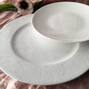 Summer Floral White Dinner Plate and Accent Plate
