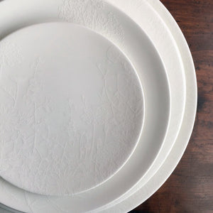 Summer White Appetizer Plate, Salad Plate, Dinner Plate and Platter