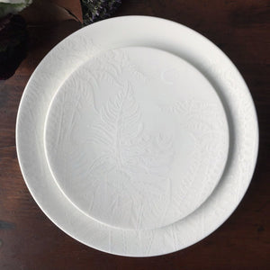 Spring White Appetizer Plate and Salad Plate