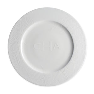 Spring Ferns White Dinner Plate Monogrammed
