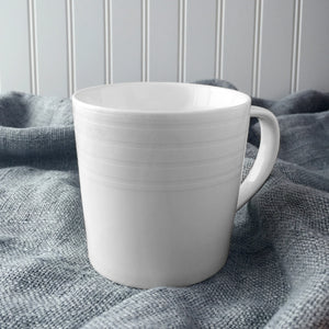 Cambridge Stripe White Wide Coffee Mug