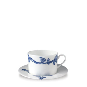 Colonial Williamsburg Arcadia Blue Tea Cup and Saucer