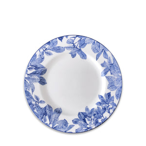 Arbor Blue and White Floral Salad Plate
