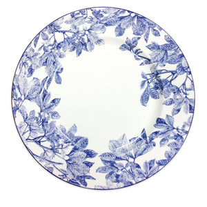 Arbor Blue Floral Charger Plate in Bone China
