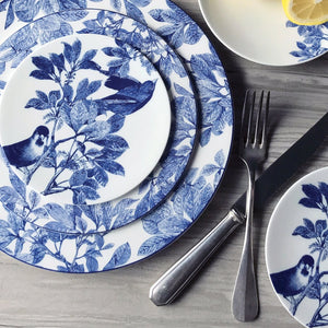 Arbor Birds Blue Appetizer Plate with Arbor Blue Dinner and Salad