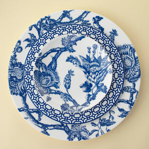 Colonial Williamsburg Arcadia Blue Dinner and Appetizer Plate with Newport Blue Salad Plate