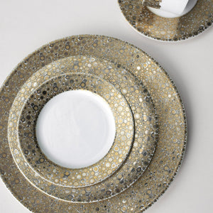 Ellington Shimmer- Gold & Platinum Bread & Butter Plate