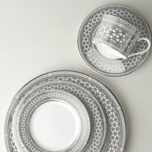 Hawthorne Ice (Platinum) 5 Piece Place Setting (Dinner, Salad, Bread Plate, Cup & Saucer)