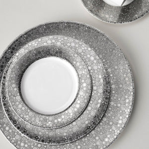 Ellington Shine (Platinum) 5 Piece Place Setting (Dinner, Salad, Bread Plate, Cup & Saucer)