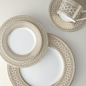 Hawthorne Gilt (Gold) 5 Piece Place Setting (Dinner, Salad, Bread Plate, Cup & Saucer)
