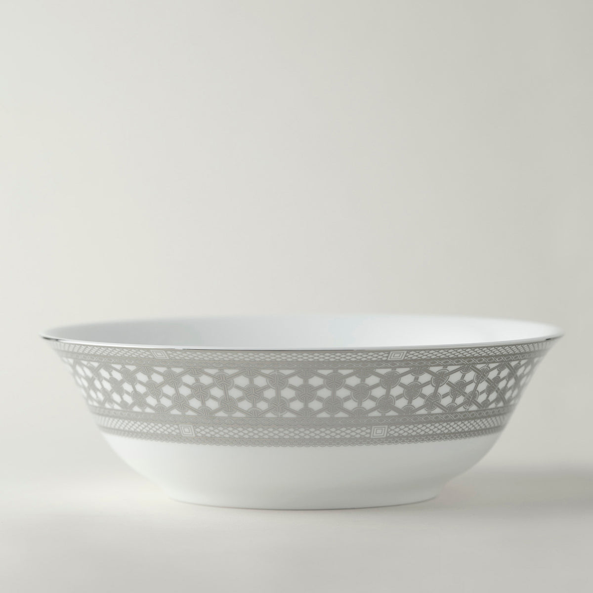 "HAWTHORNE ICE 9.5"" Medium Serving Bowl - PL - Caskata"