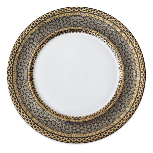 Hawthorne Onyx (Gold, Platinum & Black) Charger Plate or Platter