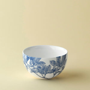 Arbor Blue and White Floral Small Snack Bowl