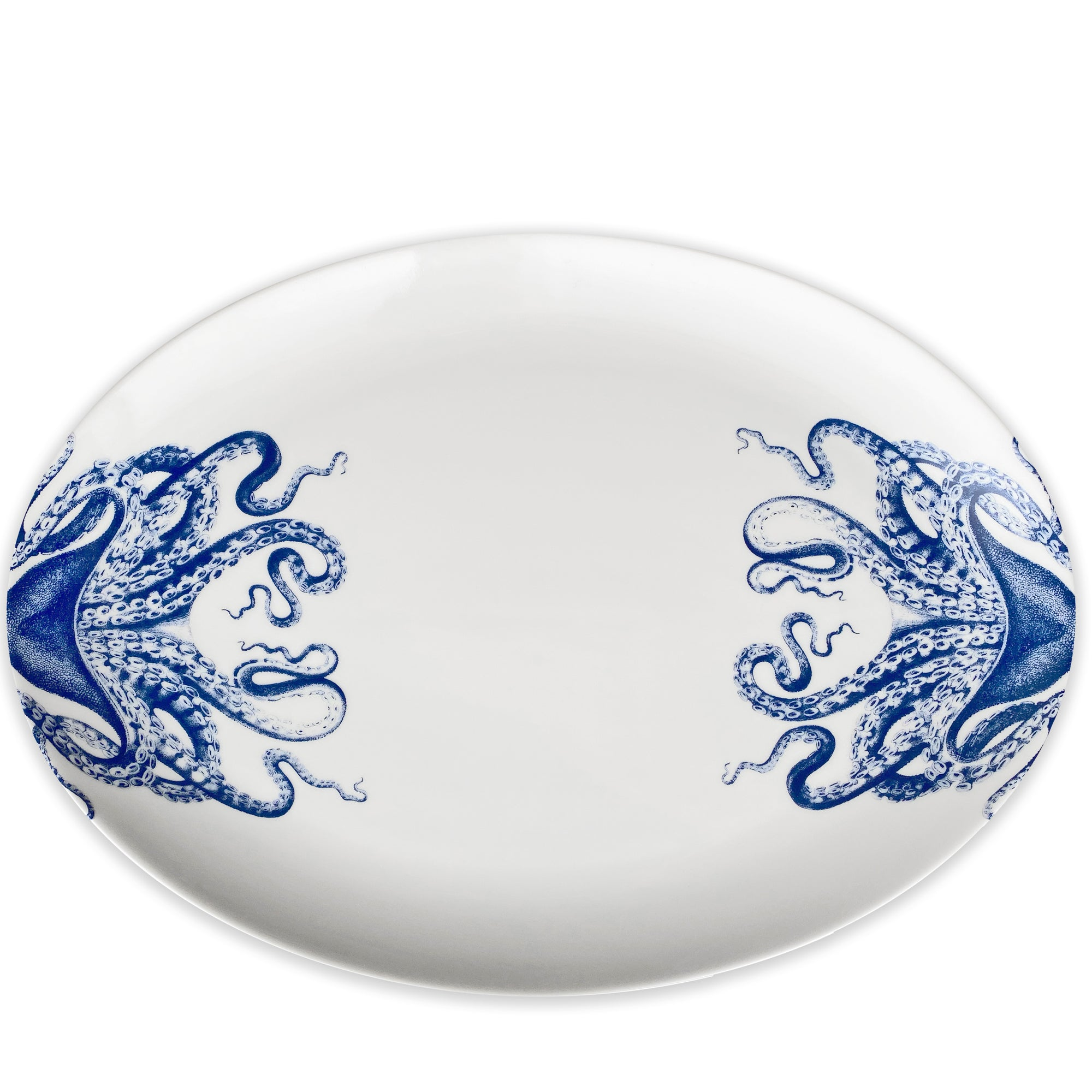 Blue Lucy 14 in COUPE Oval Platter - Caskata