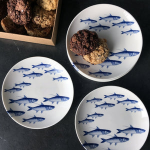 Blue School of Fish Canapés Set of 4 - Caskata