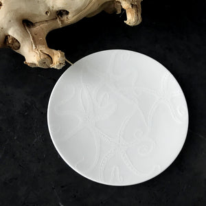 Starfish White Appetizer Plate