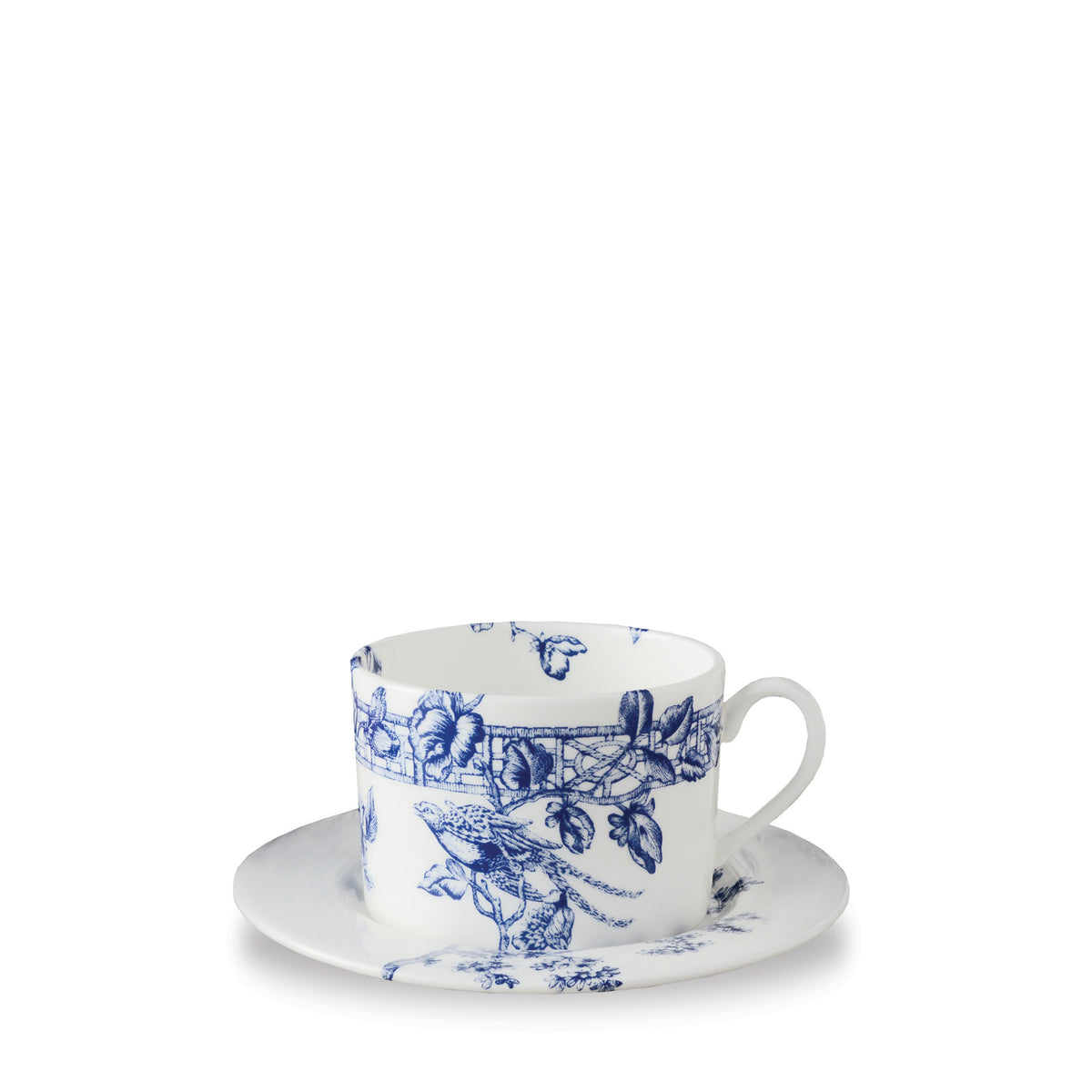 Chinoiserie Toile Can Cup & Saucer - Caskata