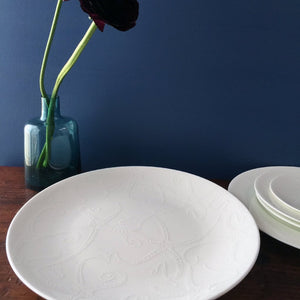 Starfish White Round Coupe Platter