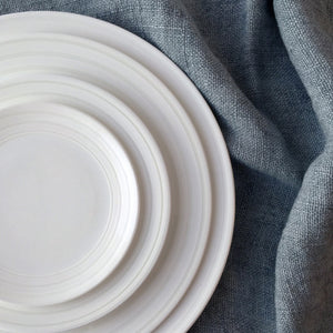 Cambridge Stripe White Charger, Dinner, Salad, and Appetizer Plate