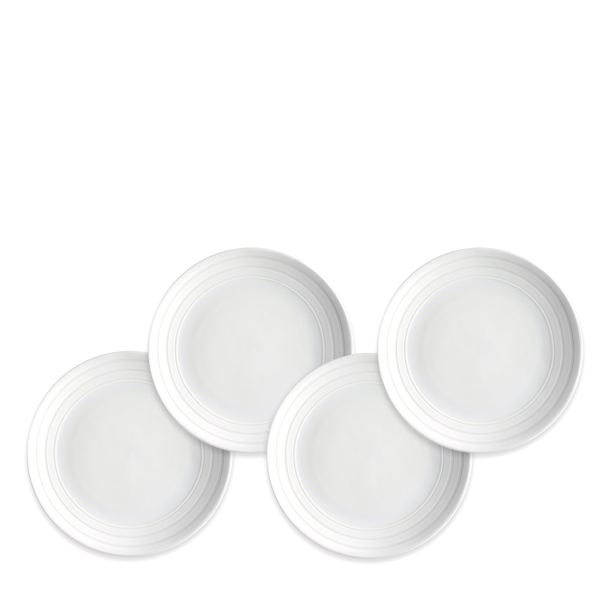 Cambridge Stripe Canapé Plates Set/4 - Caskata