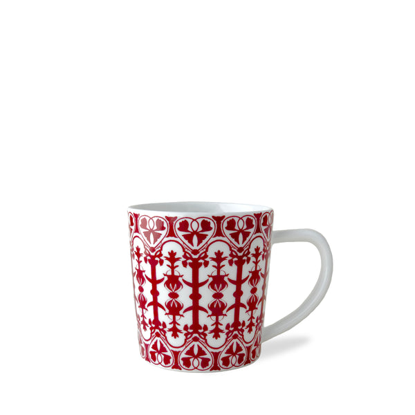 Casablanca Crimson 14 oz Mug in Red and White