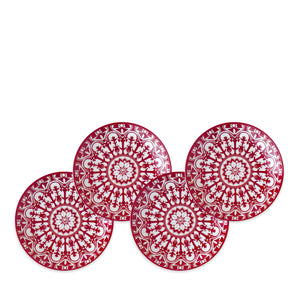Casablanca Crimson Canape Plates Set of 4