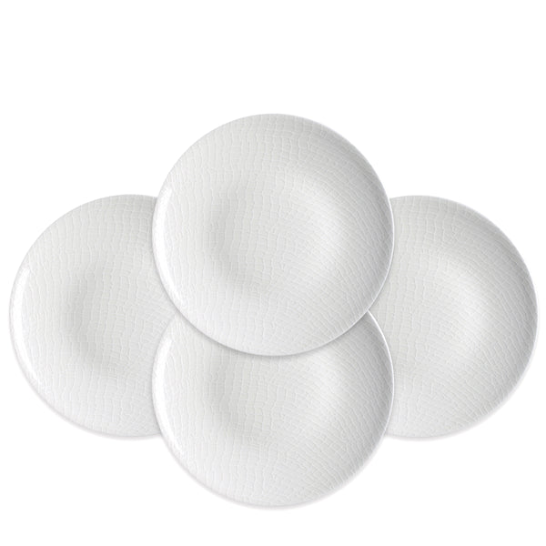 Catch Netting White Accent Dessert Plates Set of 4