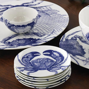 Crabs Blue Small Snack Bowl, Mixed Appetizer Plates and Large Platters