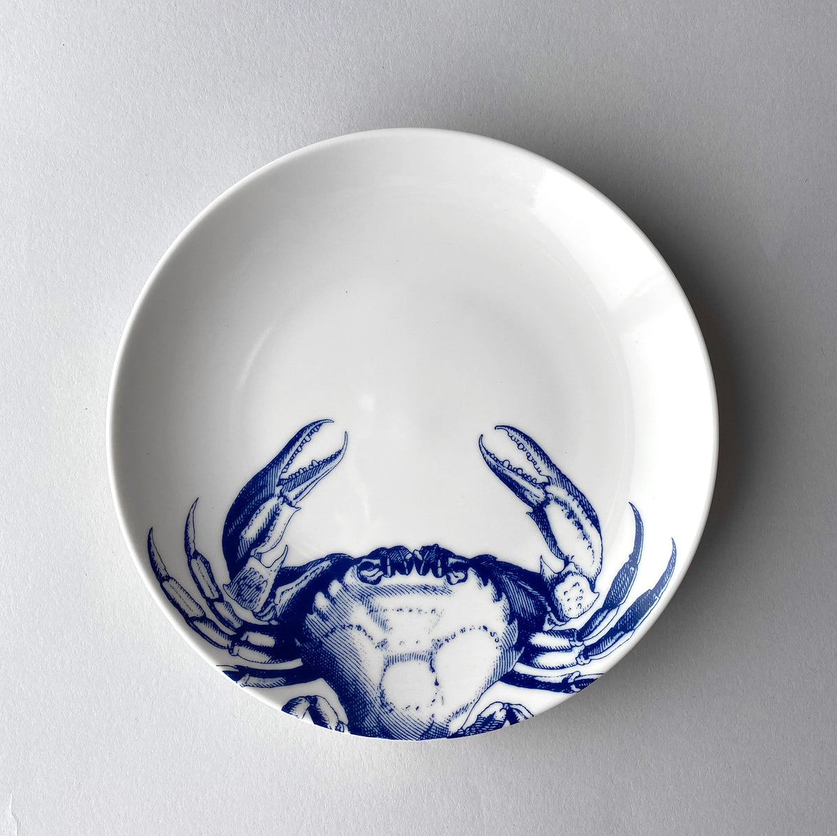 Blue Crabs Coupe Salad Plate - Caskata