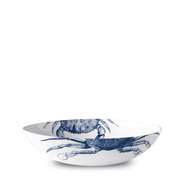 Crabs Blue Low Profile Soup or Pasta Bowl - Caskata
