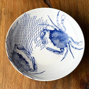 Crabs & Nets Wide Serving Bowl - Caskata