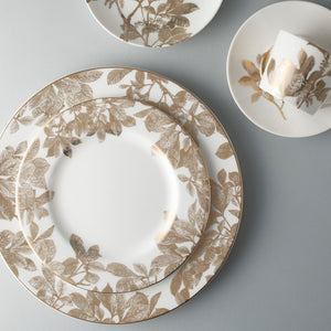 Arbor Gold 5 Piece Place Setting (Dinner, Salad, Bread Plate, Cup & Saucer)
