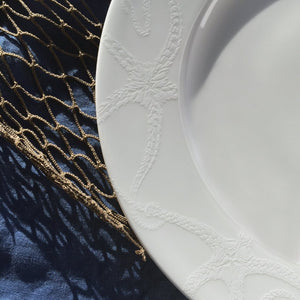 Starfish White Dinner Plate