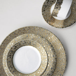 Ellington Shimmer- Gold & Platinum 5-Piece Place Setting - Caskata