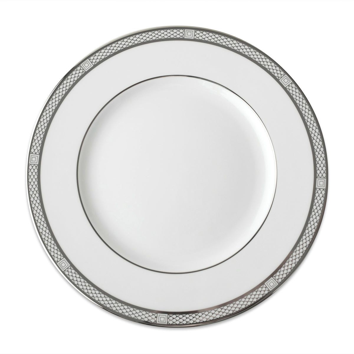 "HAWTHORNE ICE 10.75"" Bone China Simple Dinner - PL - Caskata"