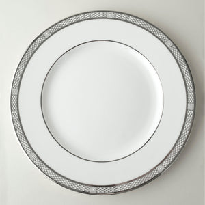 Hawthorne Ice- Platinum Simplified Dinner Plate - Caskata