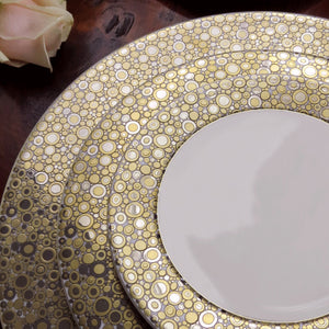Ellington Shimmer (Gold) 5 Piece Place Setting (Dinner, Salad, Bread Plate, Cup & Saucer)