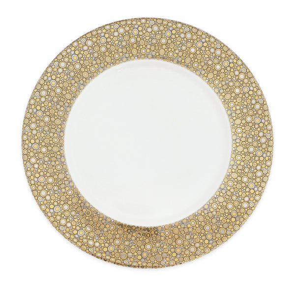 Ellington Shimmer Insignia C Bone China Charger Plate in Platinum and Gold