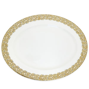 Ellington Shimmer Gold and Platinum Bone China Large Oval Platter