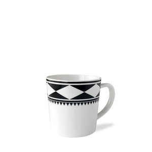 Fez Black Wide Coffee Mug in Premium Porcelain
