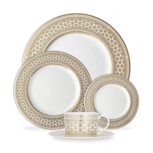 Hawthorne Gilt 5 Piece Place Setting (Dinner, Salad, Bread Plate, Cup & Saucer)