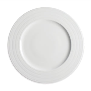 Cambridge Stripe White Dinner Plate