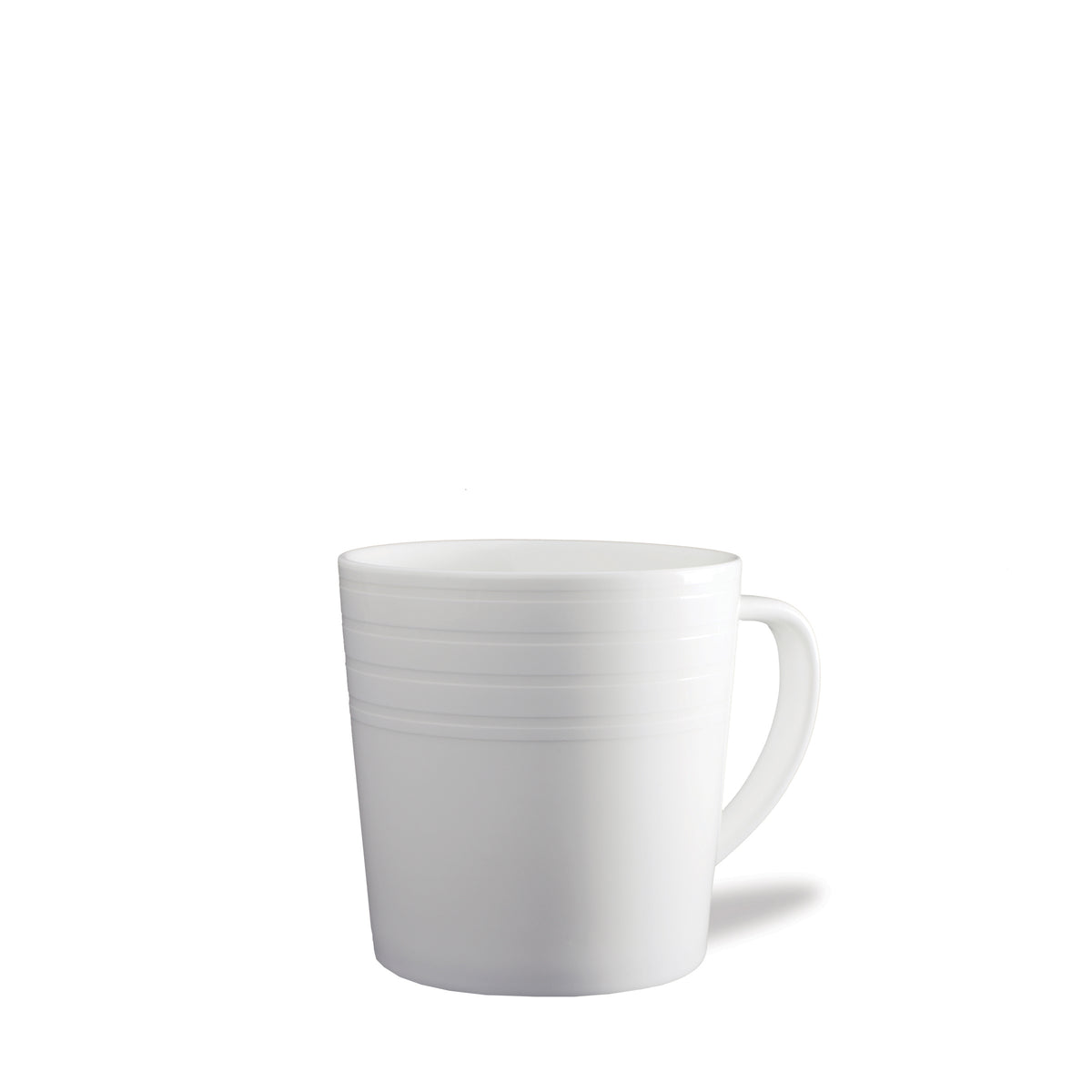 Cambridge Stripe WHT 14oz Wide Mug - Caskata