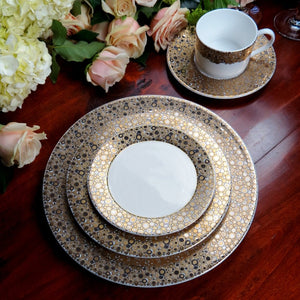 Ellington Shimmer 5 Piece Place Setting (Dinner, Salad, Bread Plate, Cup & Saucer)