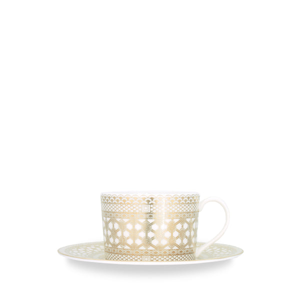 Hawthorne Gilt (Gold) Tea Cup and Saucer