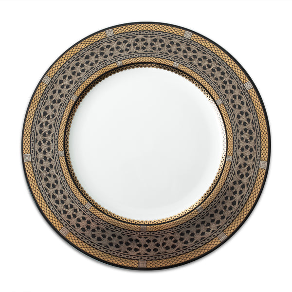 Hawthorne Onyx (Gold, Platinum & Black) Dinner Plate